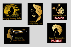 پنج طرح لوگوی آرایشگاه و سالن زیبایی زنانه لایه باز PSD